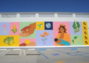 Earth Day Mural: 'Nurture Our Mother'
