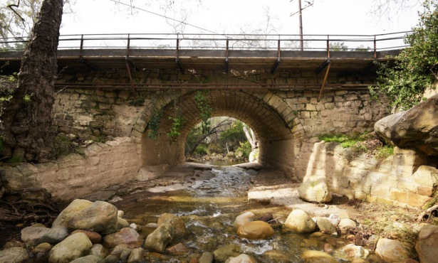 Troubled Bridge over Mission Creek Water