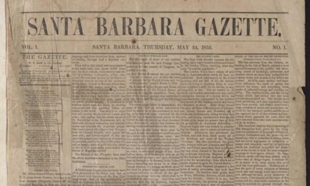 A Digitized Version of Santa Barbara's First Newspaper
