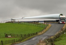 Strauss Wind Energy Deliveries on the Road