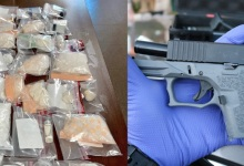 Hit-and-Run Arrest and Man Found with Gun and Four Pounds of Narcotics