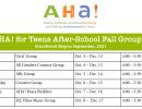 AHA! Fall 2021 After School Programs