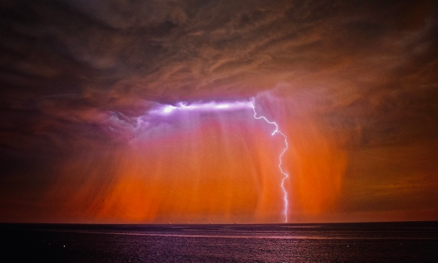 Storm Surprises Central Coast with Thunder and Lightning Show