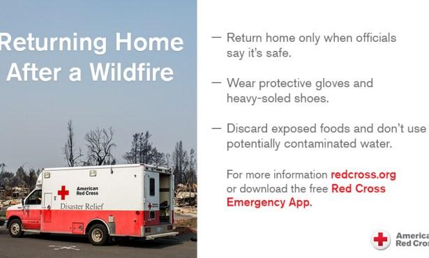 Red Cross Response to Alisal Fire Rain Event