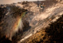 Aircraft Up in Alisal Fire Fight